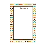 Multicolored Mustache Custom Dots Notepad