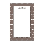Mustache Custom Dots Notepad