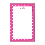 Pink Dotted Custom Dots Notepad