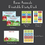 Farm Animals Custom Party Pack