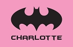 Pink Bat Signal Custom Placemat