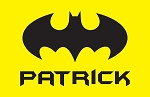 Yellow Bat Signal Custom Placemat