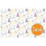 Beach Life Orange Accent Personalized Placemat