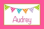 Pink Multicolored Banner Custom Placemat