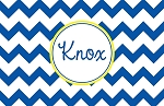 Blue Chevron Custom Placemat