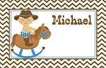 Chevron Cowboy Custom Placemat