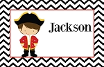 Chevron Pirate Custom Placemat