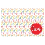 Outdoor Sketched Elements with Red Personalized Placemat