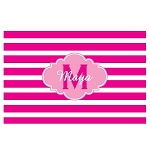 Pink Striped Pink Cloud Personalized Placemat