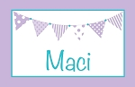 Purple and Turquoise Banner Custom Placemat