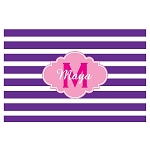 Purple Striped Pink Cloud Personalized Placemat