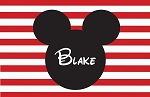 Mickey Striped Custom Placemat