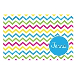 Multicolored Chevron Personalized Placemat