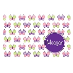 Multicolored Butterflies with Purple Circle Personalized Placemat