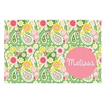 Crazy Green Paisley Personalized Placemat