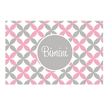 Pink and Grey Stars Personalized Placemat