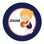 Basketball Player 3 Custom Melamine Plate