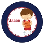 Basketball Player 4 Custom Melamine Plate