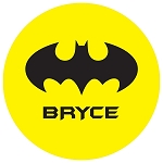 Yellow Bat Signal Custom Melamine Plate