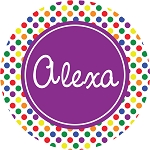 Multicolored Dots with Purple Personalized Melamine Plate