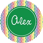 Multicolored Waves with Green Personalized Melamine Plate