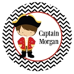 Chevron Pirate Custom Melamine Plate