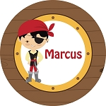 Driftwood Pirate Personalized Melamine Plate