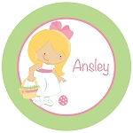 Easter Girl Custom Melamine Plate