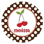 Heart Cherries Custom Melamine Plate