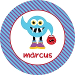Monster 1 Personalized Melamine Plate