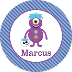 Monster 2 Personalized Melamine Plate