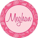 All Pink Paisley Personalized Melamine Plate
