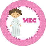 Pink Galaxy Princess Personalized Melamine Plate