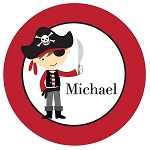 Pirate Boy Custom Melamine Plate