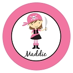 Pirate Girl Custom Melamine Plate
