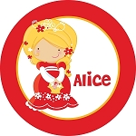 Blonde Princess Personalized Melamine Plate