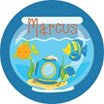 Fish Bowl Personalized Melamine Plate