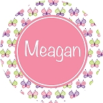 Multicolored Butterflies with Pink Personalized Melamine Plate
