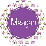 Multicolored Butterflies with Purple Personalized Melamine Plate