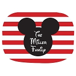 Mickey Striped Custom Melamine Platter