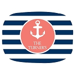 Nautical Striped Custom Melamine Platter