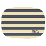 Nautical Stripes 2 Custom Melamine Platter