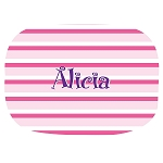 Pink Striped Custom Melamine Platter