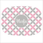 Pink and Grey Stars Custom Melamine Platter