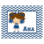 Chevron Cheerleader Custom Puzzle