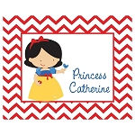 Chevron Snow Princess Custom Puzzle
