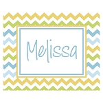 Multicolored Chevron Custom Puzzle