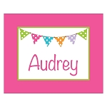 Pink Multicolored Banner Custom Puzzle