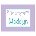 Purple and Turquoise Banner Custom Puzzle