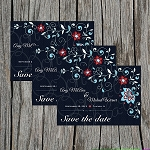 Blue Floral Custom Save the Date
